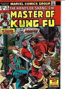 Master Of Kung Fu 18 Shang-Chi Fu Manchu VG/F 1974 Glossy