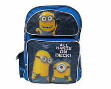 """Despicable Me 2 Minion School Large 16"""" inches Backpack - All Hands On Deck"""