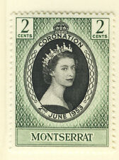 MONTSERRAT 1953 CORONATION BLOCK OF 4 MNH