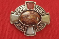 Silver Pin with Stones Gorgeous Vintage Celtic Sterling