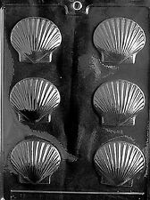 SCALLOP SHELL PIECES Chocolate Candy Soap molds scallops shells ocean beach