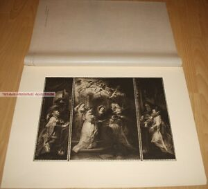 PETER PAUL RUBENS - DER ILDEFONSO-ALTAR *  RARE GERMAN PHOTOGRAVURE 1900