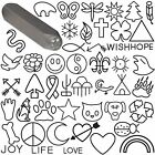 Steel Design Stamp Punch Tool to Embellish Metal, Plastic, Jewelry Blanks, Clay+