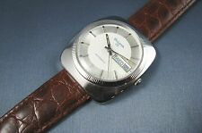 Vintage Bulova Stainless Steel 23J Automatic Mens Day Date Watch 11AOACB 1973