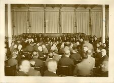 """""""Réunion : Société des Nations Genève 1931"""" Photo originale G.DEVRED (Agce ROL)"""