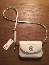 Tory Burch Small Robinson Saffiano Leather Crossbody Handbag in New Ivory