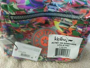 Kipling Sunnyside Leslie prt large storage make up accessory zip pouch orig. PKG