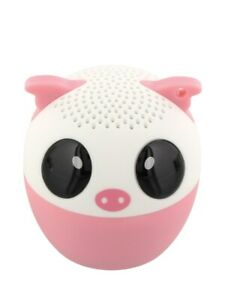 Bluetooth Speaker Pink Pig Portable Mini and Remote Shutter Release 4.3x4.5cm