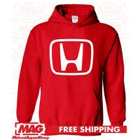 HONDA LOGO IN WHITE HOODIE RED Motocross Hooded Sweatshirt Racing ATV CBR US