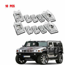 10Pcs Clear Top Roof Cab Marker Light Cover Lens for 2003-2009 Hummer H2 SUV SUT