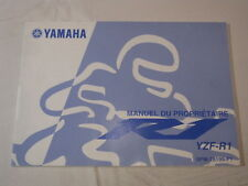 YAMAHA R1 YZF-R1 2002  OWNER MANUAL MANUEL DU PROPRIETAIRE