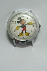 Vintage Men's Timex Mickey Mouse watch for parts/repair  # 38