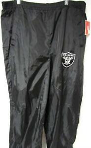 Las Vegas Raiders Mens Size Medium Elastic Waist Windbreaker Pants A1 915