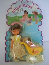 "RARE KIDDLE KLONE BABY IN STROLLER+BETSEY CLARK CLONE DOLL""LILY & MIMI SUNNY DAY"