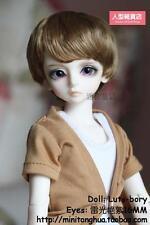 BJD Doll Hair Wig Mohair 7-8 inch 18-20cm  Brown 1/4 MSD DZ DOD LUTS