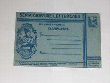 Sepia Gravure Lettercard Sux Latest Views Of Dawlish Devon. Vintage Postcard.