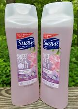 2 Suave Essentials Pampering Body Wash Shower Soap Sweet Pea & Violet 15oz