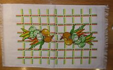New listing Vintage 1960-70's Terry Dish Towel Orange Green Yellow Onions Garlic Peppers Nwt