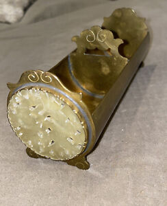 POTTER BENTLEY STUDIOS  ARTS & CRAFTS Jade & brass desk cigarette holder nice!