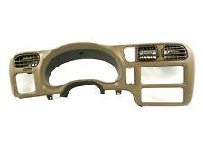 "98-04 S10 Sonoma Blazer Brown Tan Dash Speedometer Radio Bezel Trim Cover 3 1/4"""