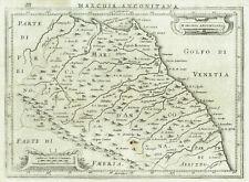 MARCHE 1627 J. HONDIUS - Carta Geografica Mappa Stampa Antica Originale Ancona