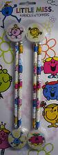Little Miss Lápiz y Topper (De Goma/Eraser) Set 4 lápices y 4 Toppers