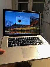 "Apple MacBook Pro 15"" SSD 250GO et RAM 8GO upgrade - bon état"