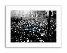 IRISH FREE STATE HERO COLLINS CROWD SPEECH FREEDOM Vintage Canvas art Prints