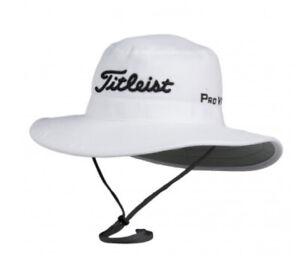 Golf Titleist Performance Tour Aussie Bucket White Sun Hat Cap Men Free Shipping