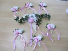 Tischdekoration 7 teilig  rosa wei�Ÿ Tischdeko Hochzeit Kommunion Taufe Verlobung