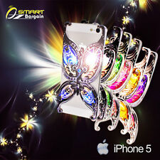 Luxury 3D Art Design Fancy Deluxe Butterfly Case Cover +SP for iPhone 5S 5G 5 s