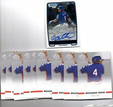 ROUGNED ODOR 2012 Bowman Chrome Autograph/2012 RIZE Draft lot(11 cards)
