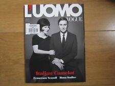 L'uomo Vogue Magazine March 2017 Francesco Vezzoli,Hona Staller New.