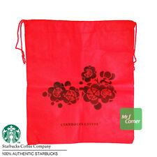 star315 starbucks red flower cherry blossom sakura recycle bag NEW