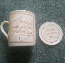 Hallmark 1986 Mug Mates Friends Quotes Mug And Coaster