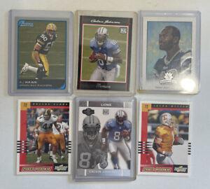 2002-4 ROOKIE Lot (6), Calvin Johnson, AJ Hawk, Jason Witten, Dallas Clark, MORE