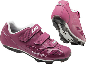 LOUIS GARNEAU WOMENS MULTI AIR FLEX CYCLING SHOES HRS-80 MAGENTA/DRIZZLE SIZE 9