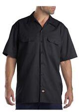 1574  Dickies Short Sleeve Work Uniform Button Up Casual Shirt-Mens