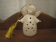 Cream Lenox Lighted Angel Ornament W/ Gold Cord & Tassel - Boy