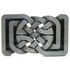 Celtic Irish Cross Knot Belt Buckle Vintage Silver Western Cowboy Medieval Gift