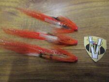 3 V Fly 1 Inch Copper Ultimate RV Allys Shrimp Salmon Tube Flies & Trebles