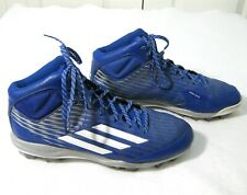 ADIDAS LITESTRIKE Mens Blue Baseball Cleats Shoes (Size 12.5) Mid-Top Iron Skin
