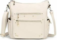 End Pocket Womens Purse Handbag Crossbody Satchel Tote Top Handle - BEIGE