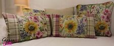 Linen Blend Country Square Decorative Cushions