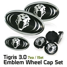 Tigris 3D Logo F R Steering Wheel Hub Cap Emblem 7Pcs For KIA 2010-13 Forte Koup