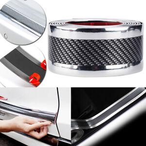 "98""x2"" Carbon Fiber Car Door Sill Scuff Step Plate Protector Bumper Body Guard"