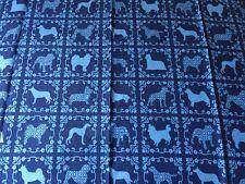 RPA579 Dog Damask Puppy Breeds Husky Shepard Corgi Cotton Fabric Quilt Fabric