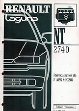RENAULT  LAGUNA       Dossier technique NT 2740  Particularités de l'ABS MK 20i