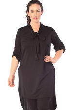 Polyester 3/4 Sleeve Casual Tunic Tops & Blouses for Women