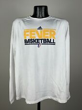 Men's Adidas Climalite Indiana Fever WNBA Basketball White Long Sleeve Shirt M
